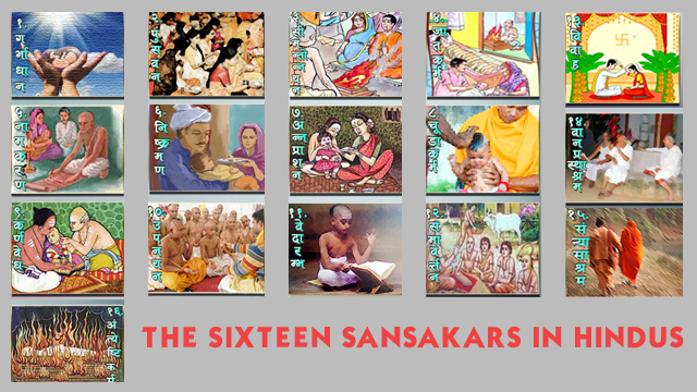 The Sixteen Sansakars In Hindus