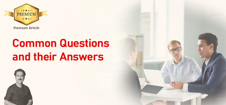 Common questions and their answers