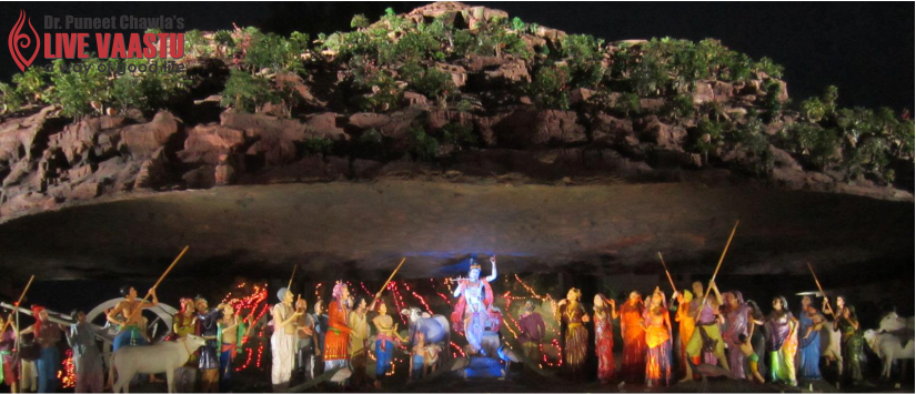 Krishna and The Miracle at mount Goverdhan