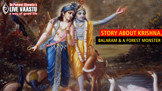 Story About Krishna, Balaram And A Forest Monster