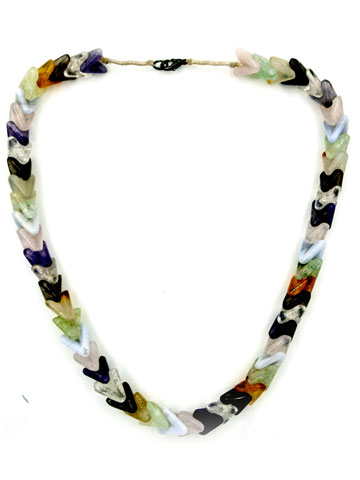 Multicoloured Pyramid Shape stone Necklace