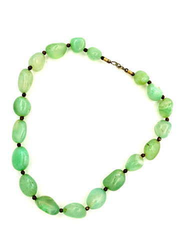 Sea Green Color Stone For Peace Necklace