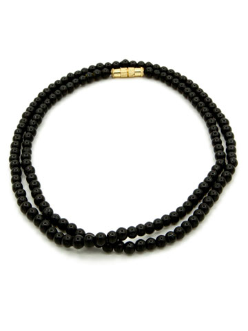 Black Tourmaline Small Bead Garland