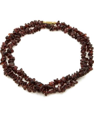 Garnet Small Round Beads Garland