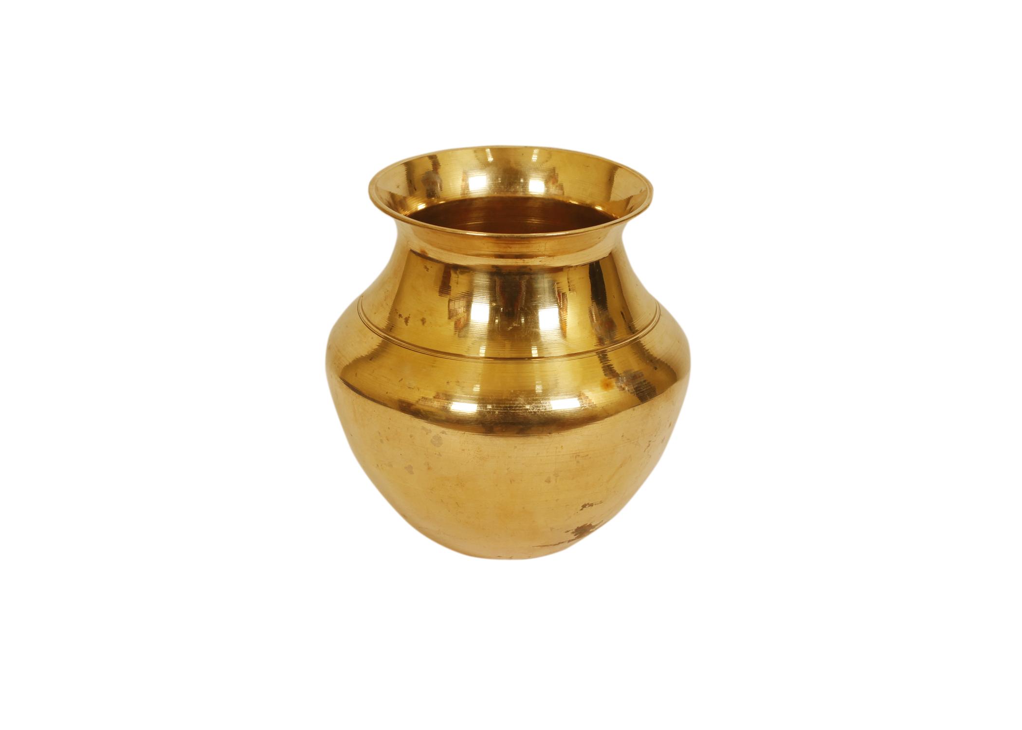 Live Vaastu Pooja Kalash/Lota Copper in Medium Size