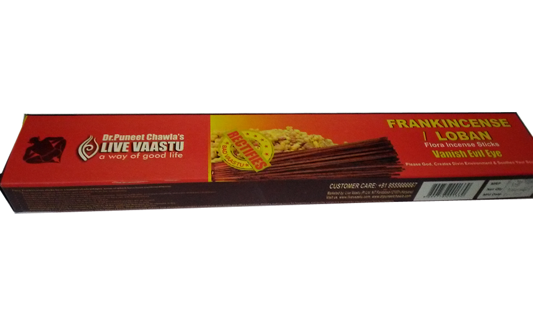 Frankincense flora incense sticks small