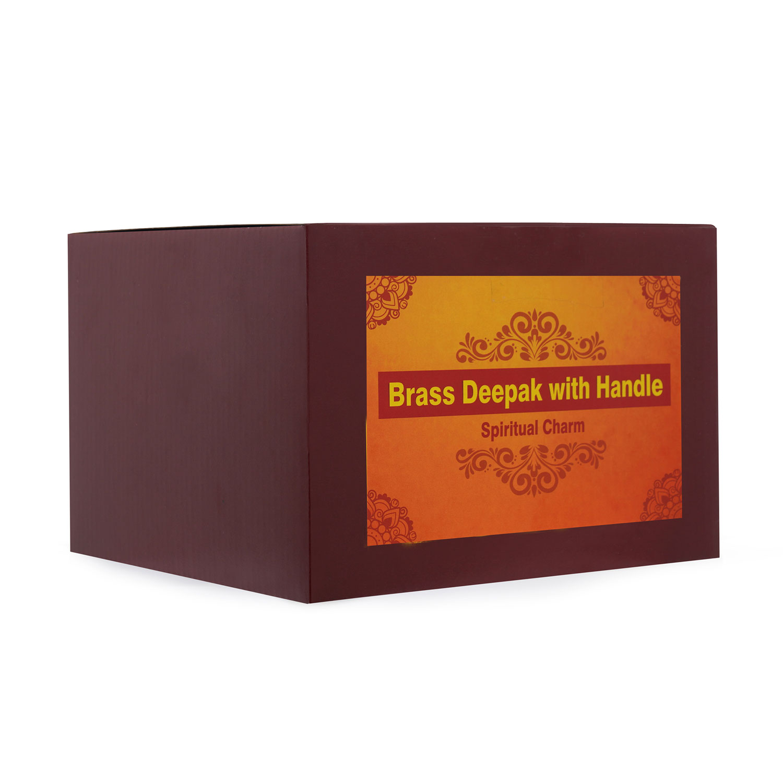 Brass Deepam with Handle
