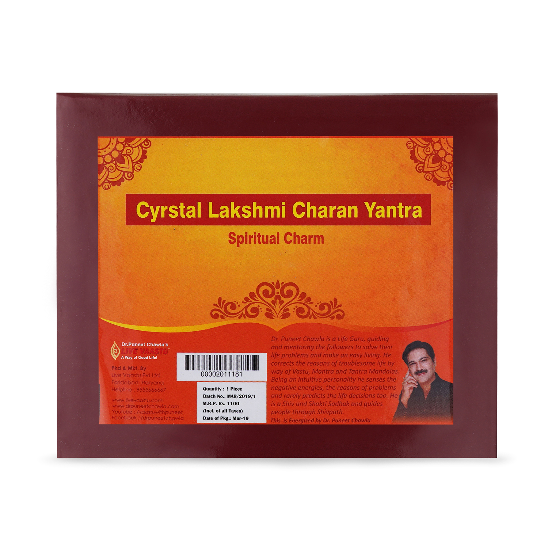 Crystal Lakshmi Charan Yantra