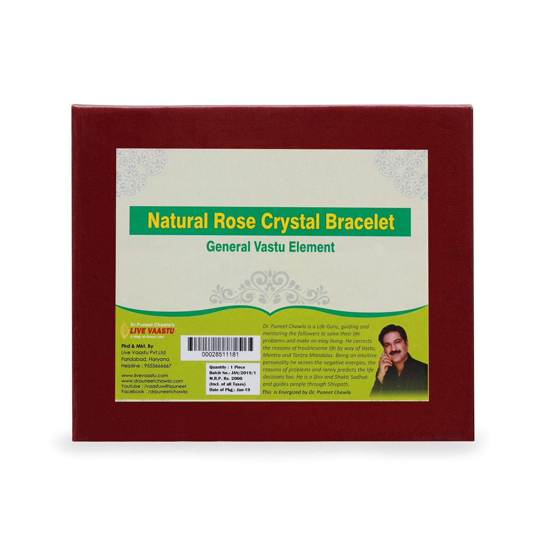 Natural Rose Crystal Bracelet