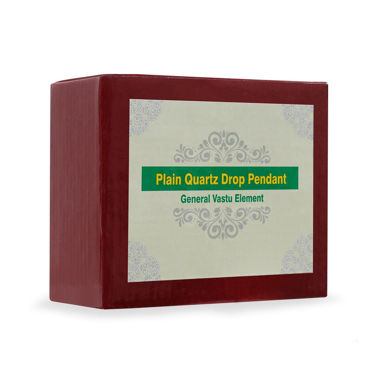 Plain Quartz Drop Pendant