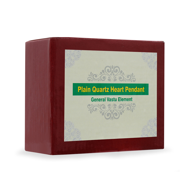 Plain Quartz Heart Pendant