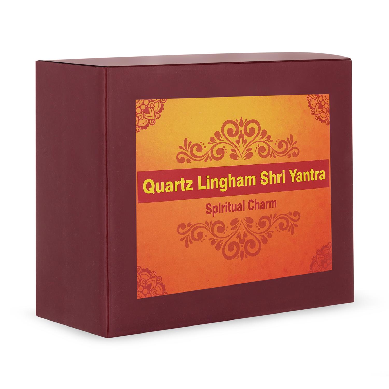Quartz Lingham Shri Yantra