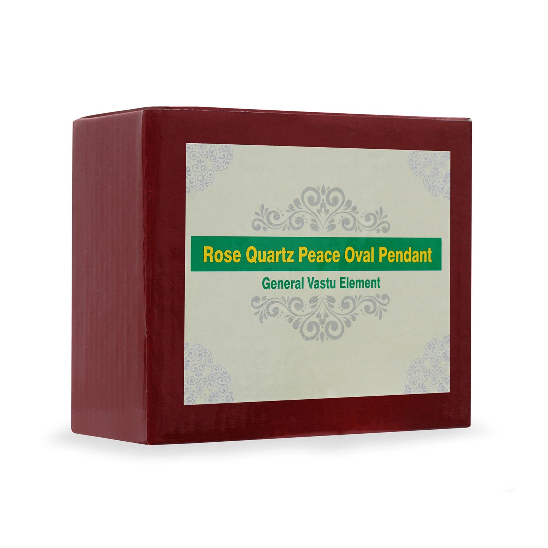Rose Quartz Peace Oual Pendant