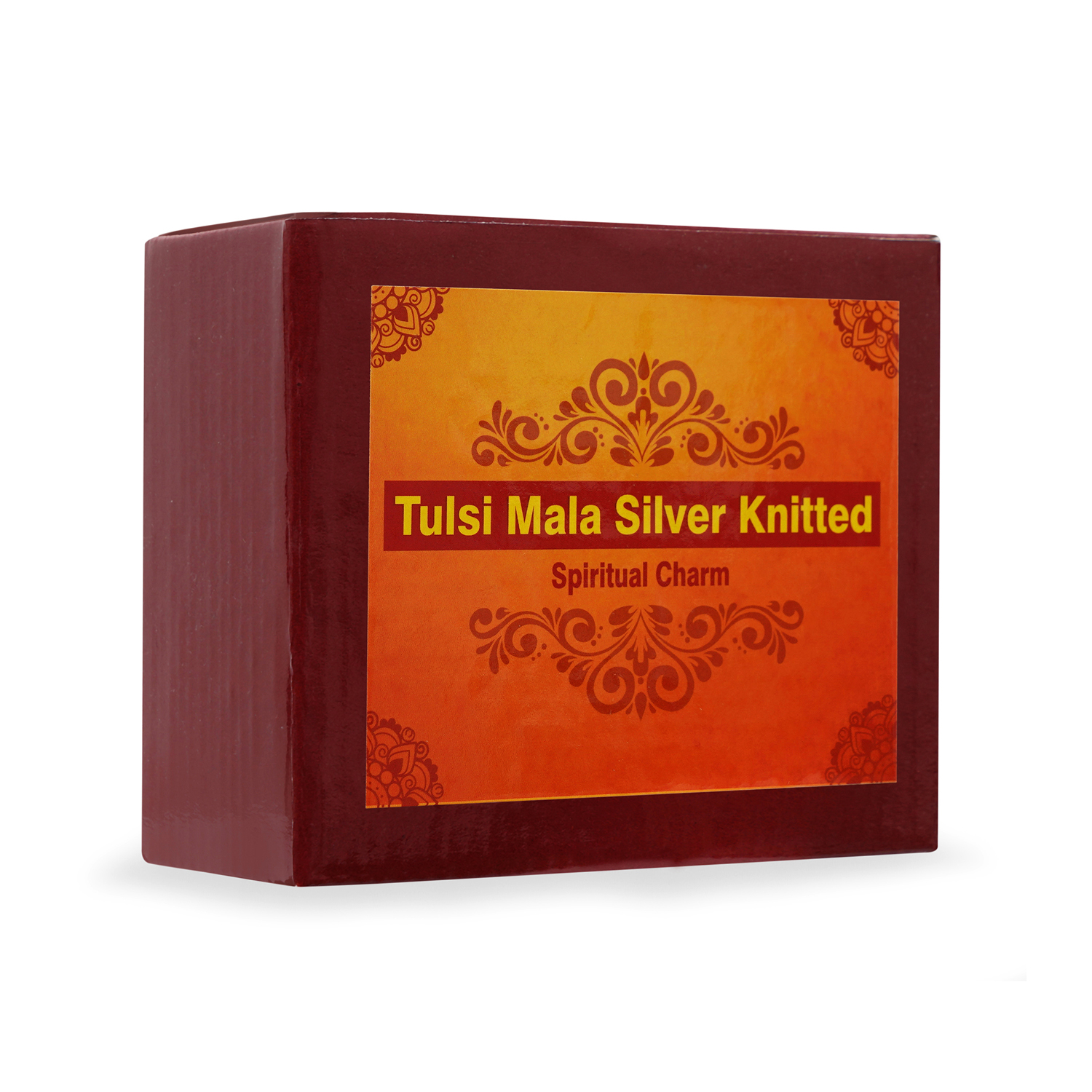 Tulsi mala silver knitted