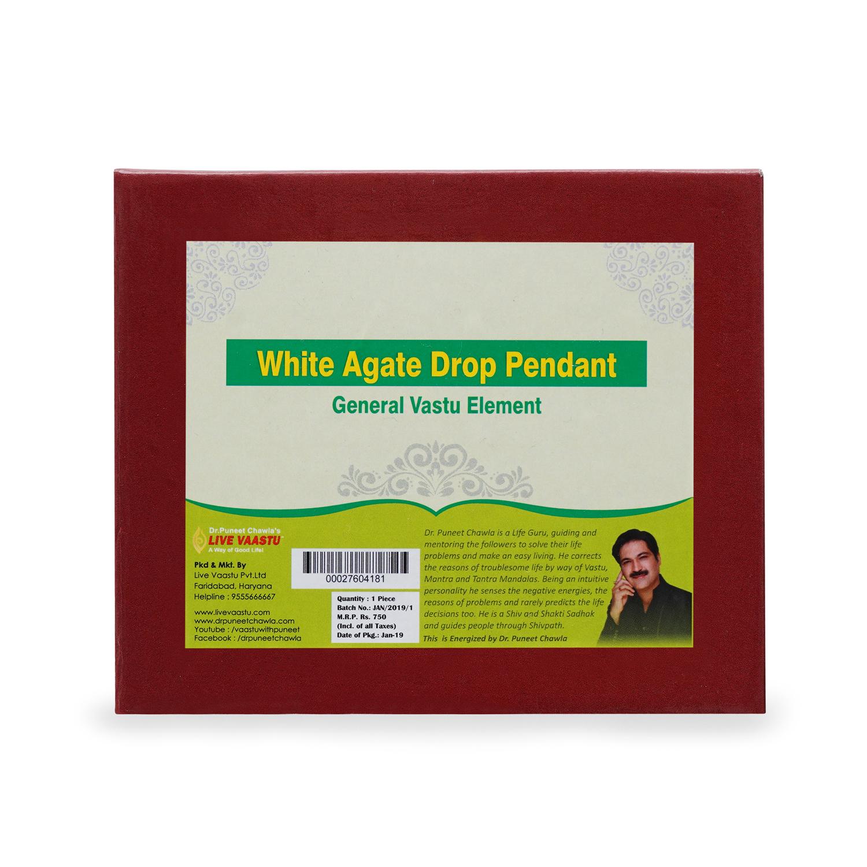 White Agate Drop Pendant