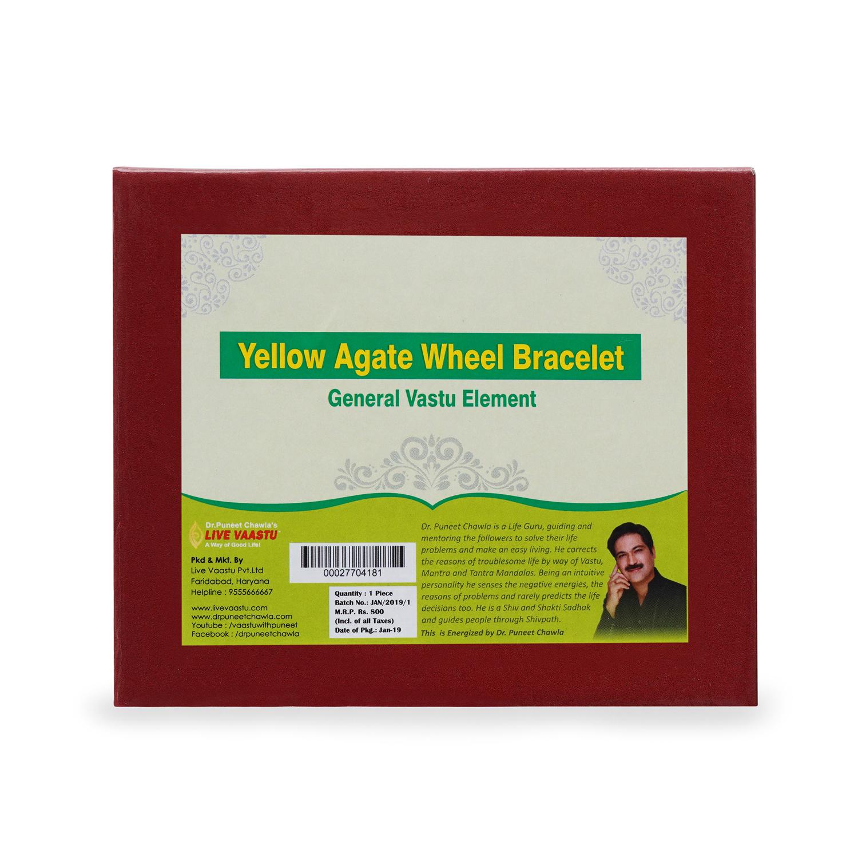 Yellow Agate Wheel Bracelet