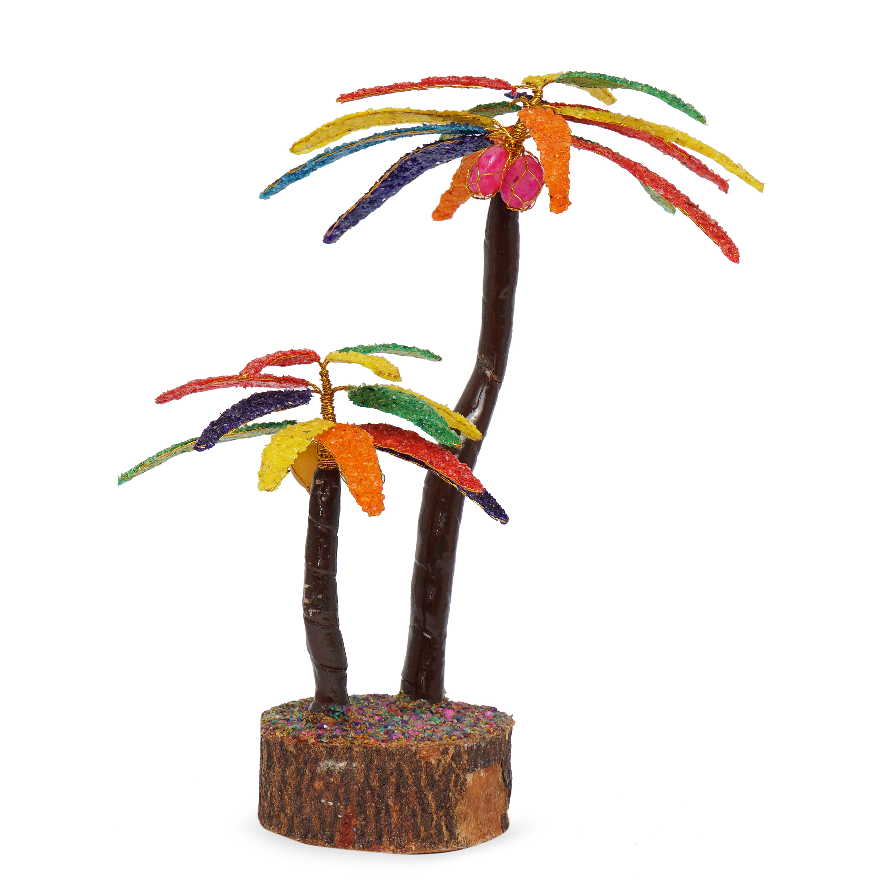 Coconut Multicolor crystal prosperity Decorative tree ...