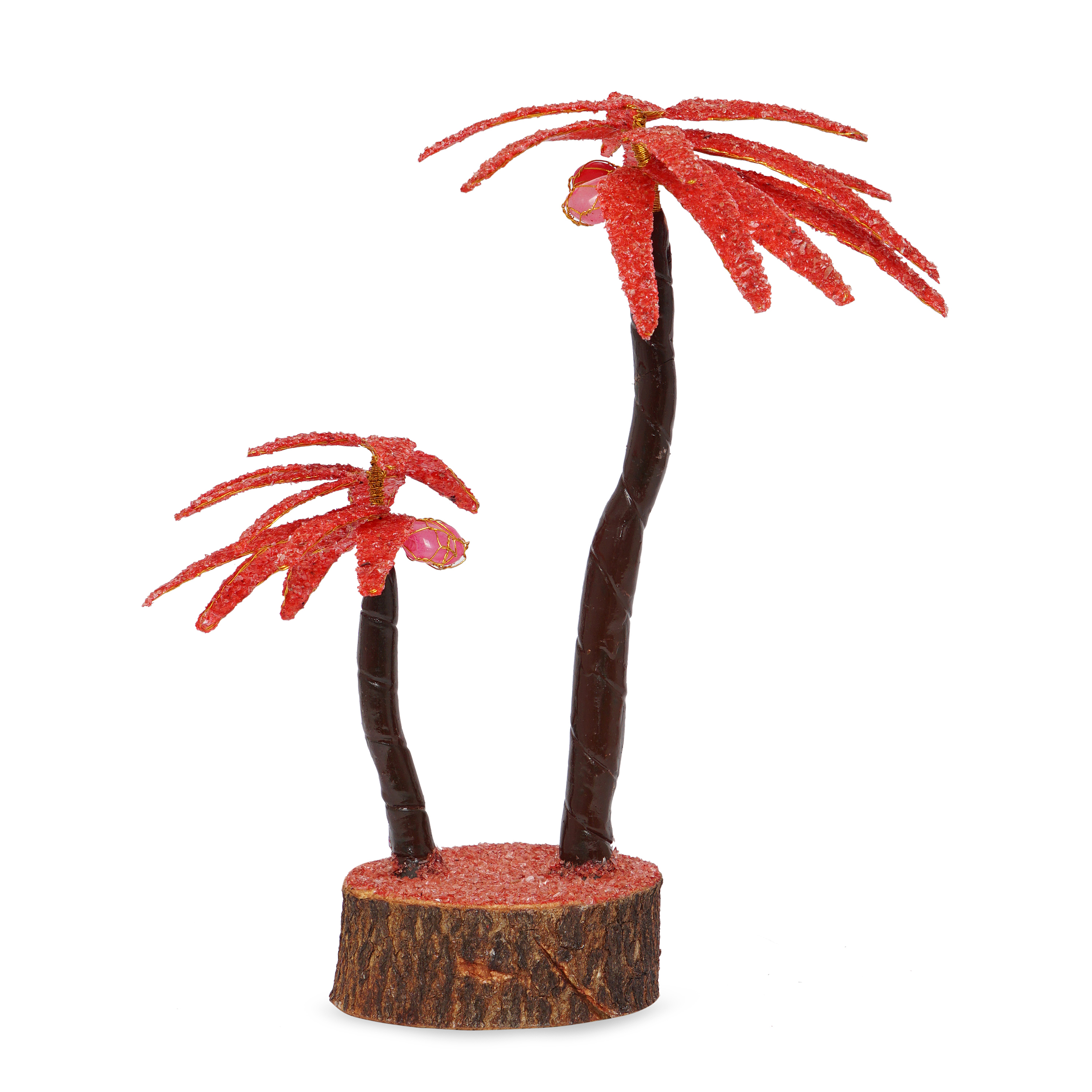 Coconut Red crystal prosperity Decorative tree ...