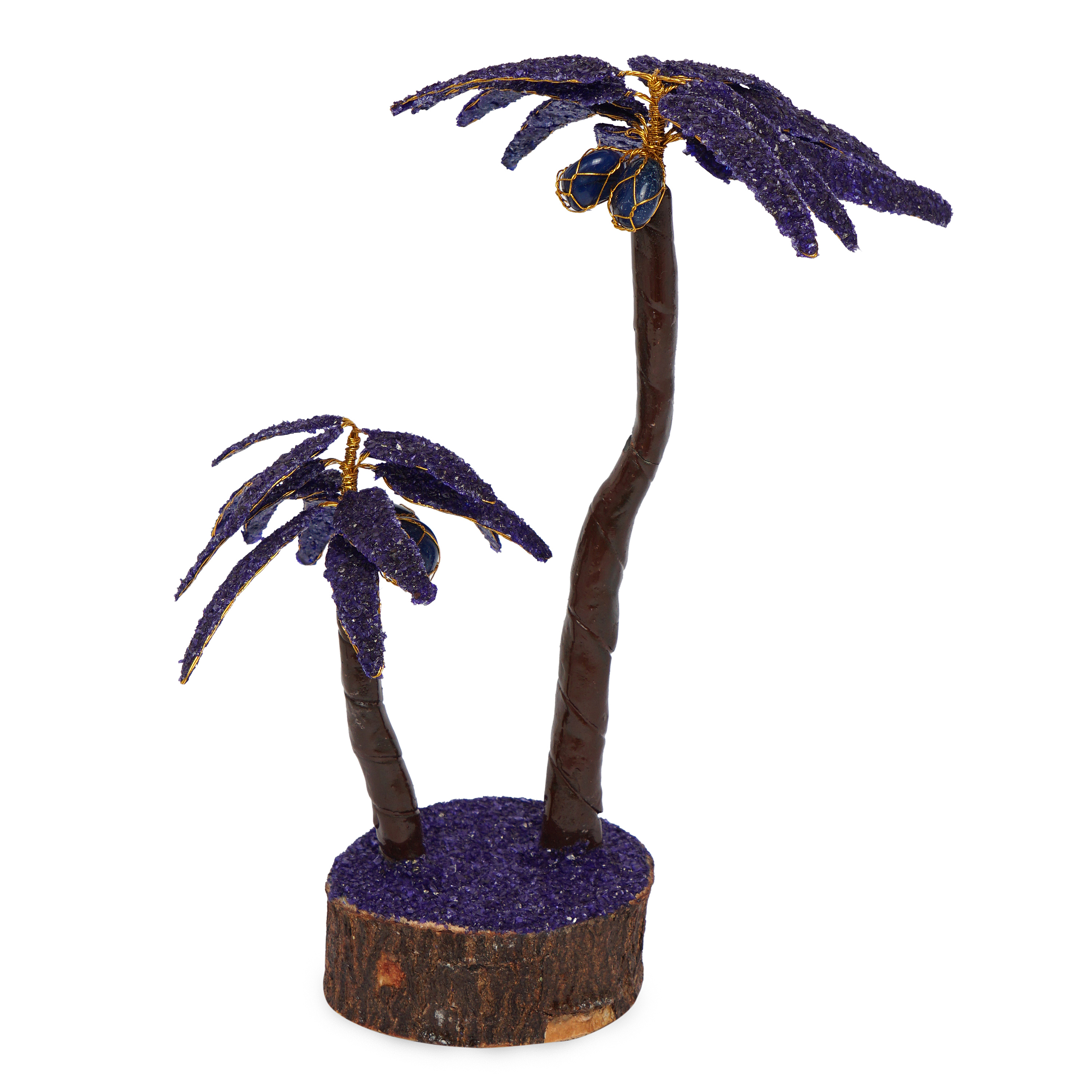 Coconut Violet crystal prosperity Decorative tree ...
