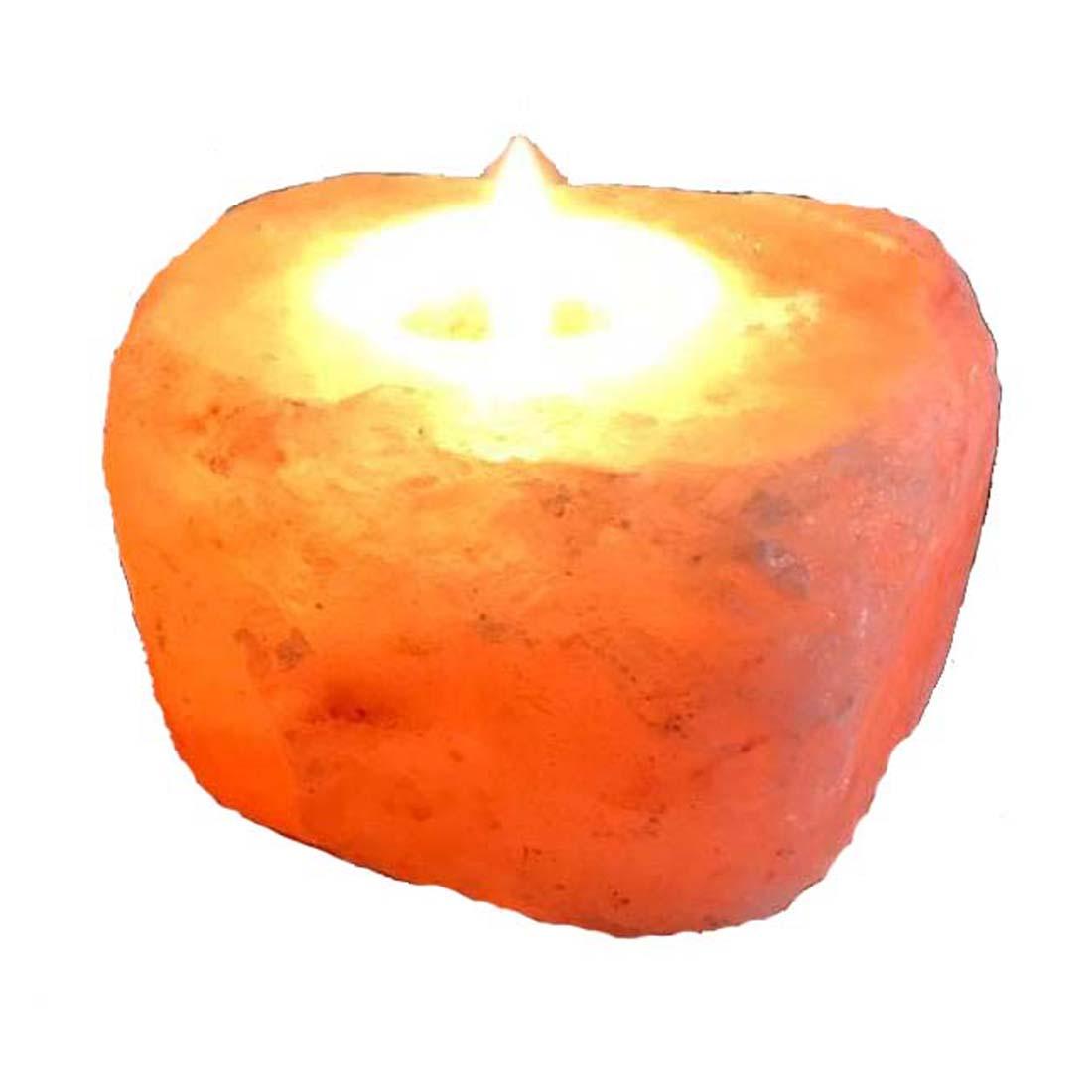 Natural Rock Salt Tea Light Candle Holder