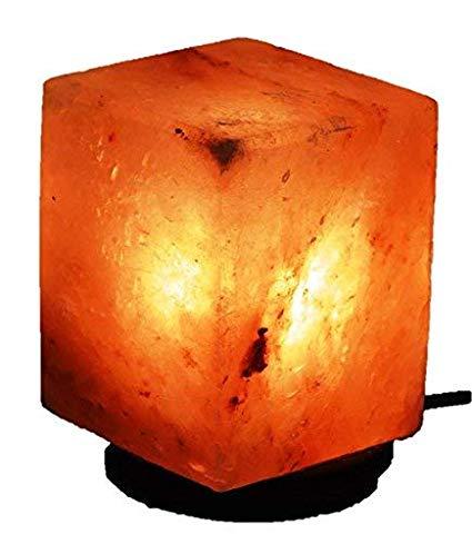 Naturals Rock Salt Lamp Cube Shape Big