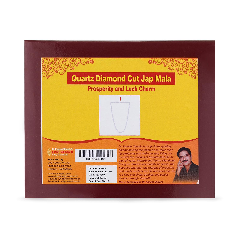 Quartz Diamond Cut Jap Mala