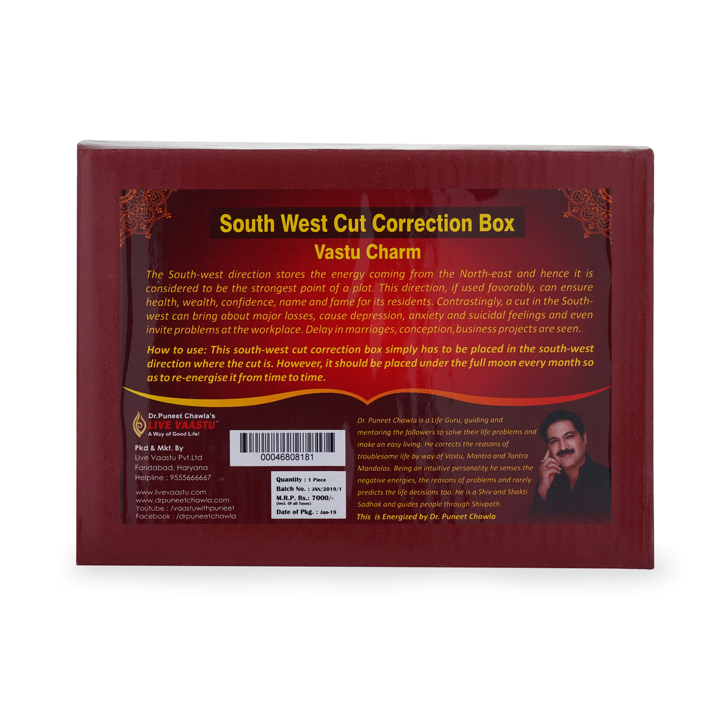 South west cut correction box