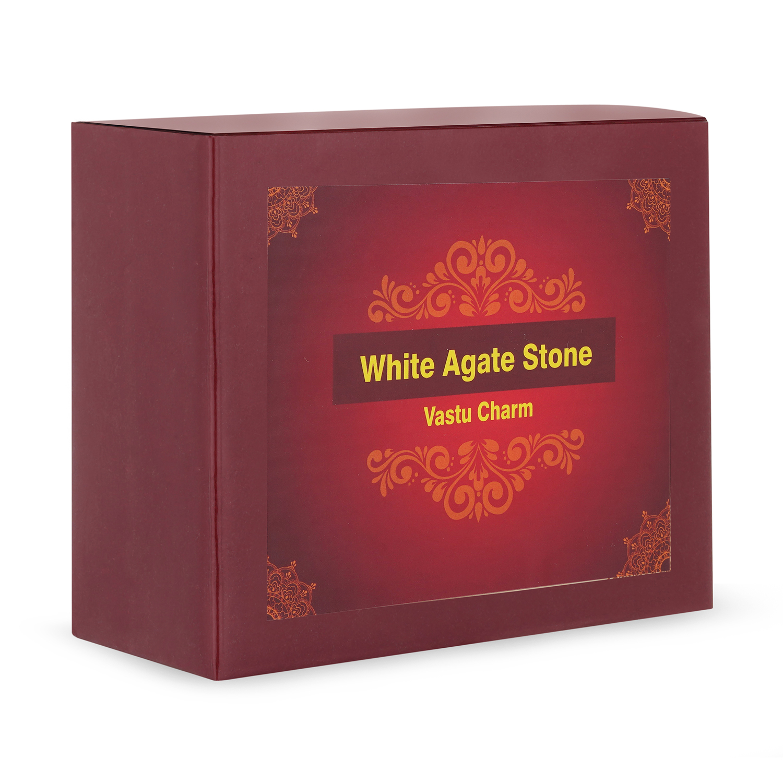 White agate stone
