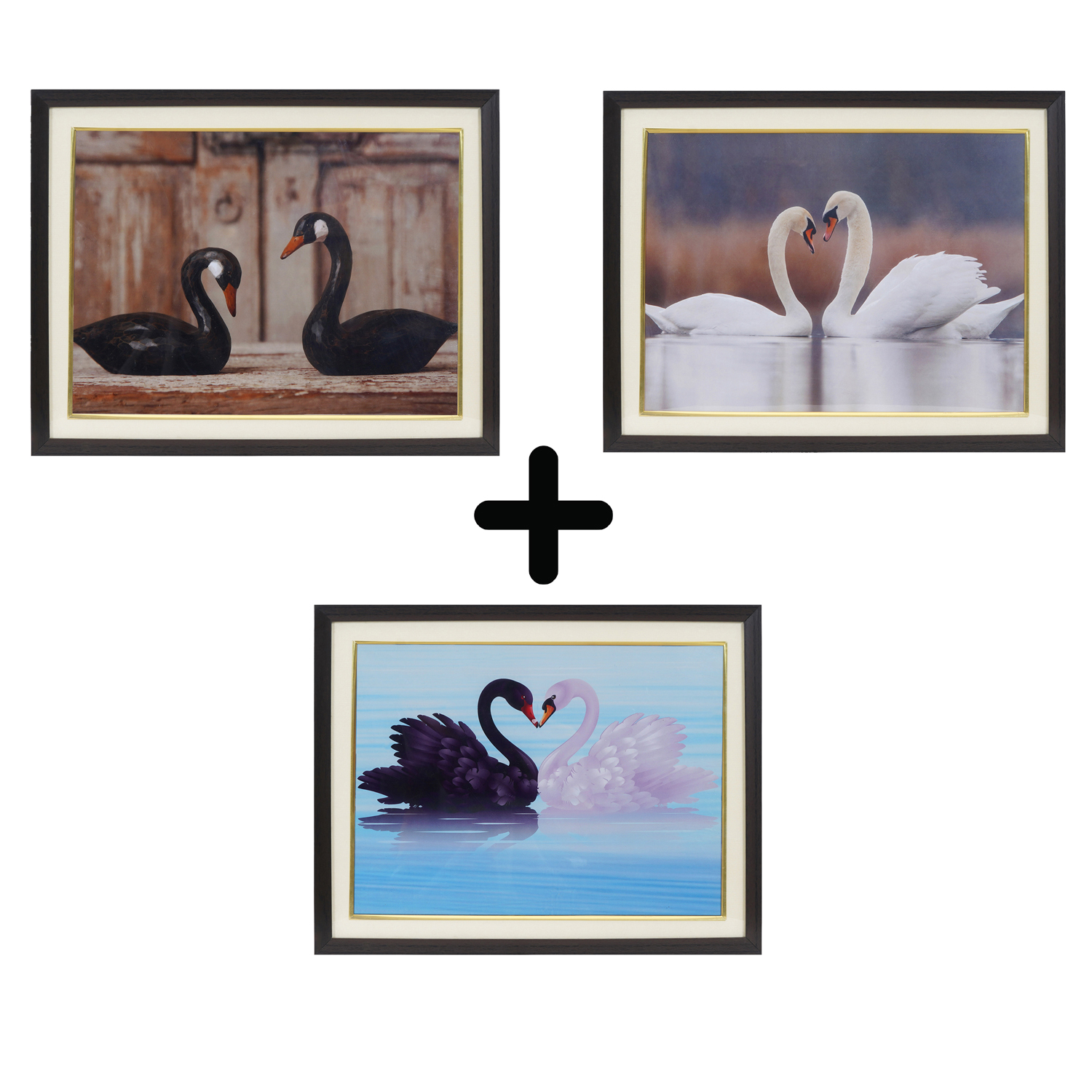 20% Off on 3 Swan Relationship Charm Photo Frame