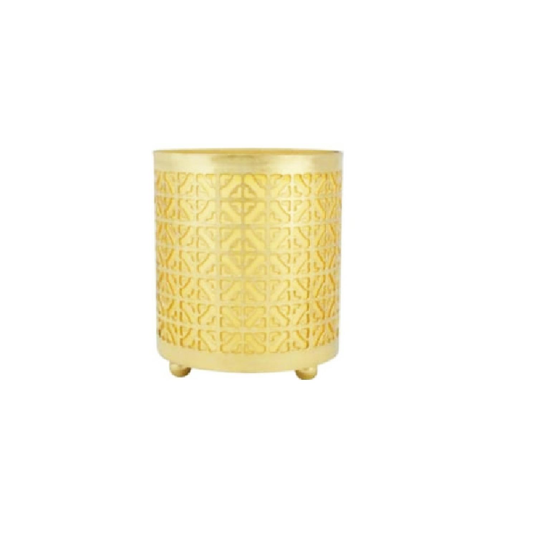 Golden Metal Candle Holder