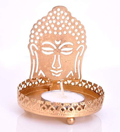 Budha Metal Candle Holder