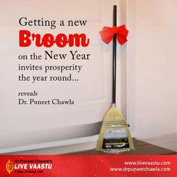 Purchasing a New Broom on the New Year Bring Prosperity For Whole Year.