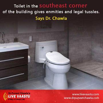 south-east corner toilet bring enmities and legal tussles
