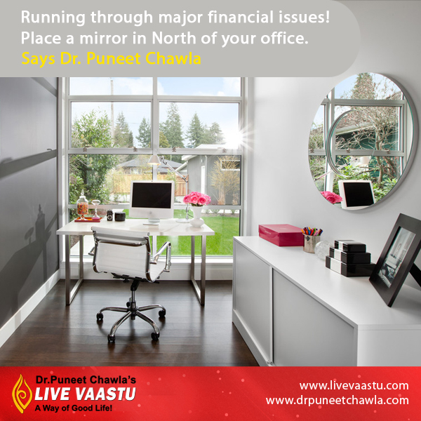 Running through major financial issues, place a mirror in North of your office says Dr. Chawla.